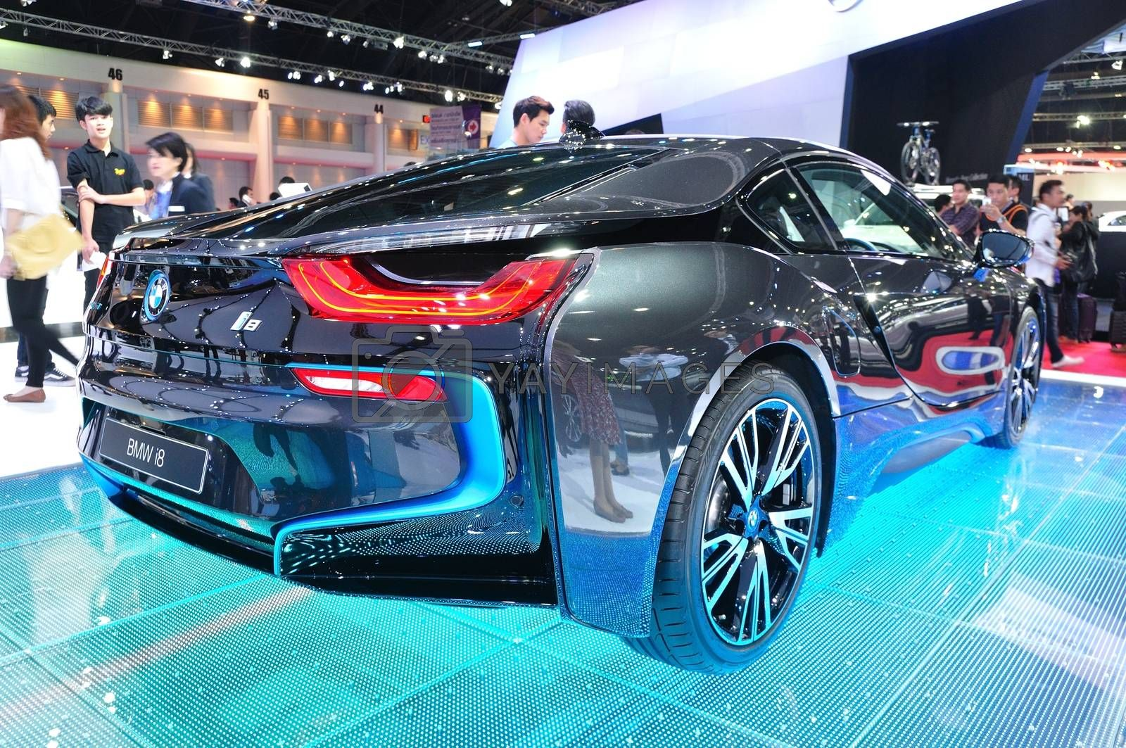 NONTHABURI - MARCH 25: NEW BMW I8  on display at The 35th Bangko by thampapon