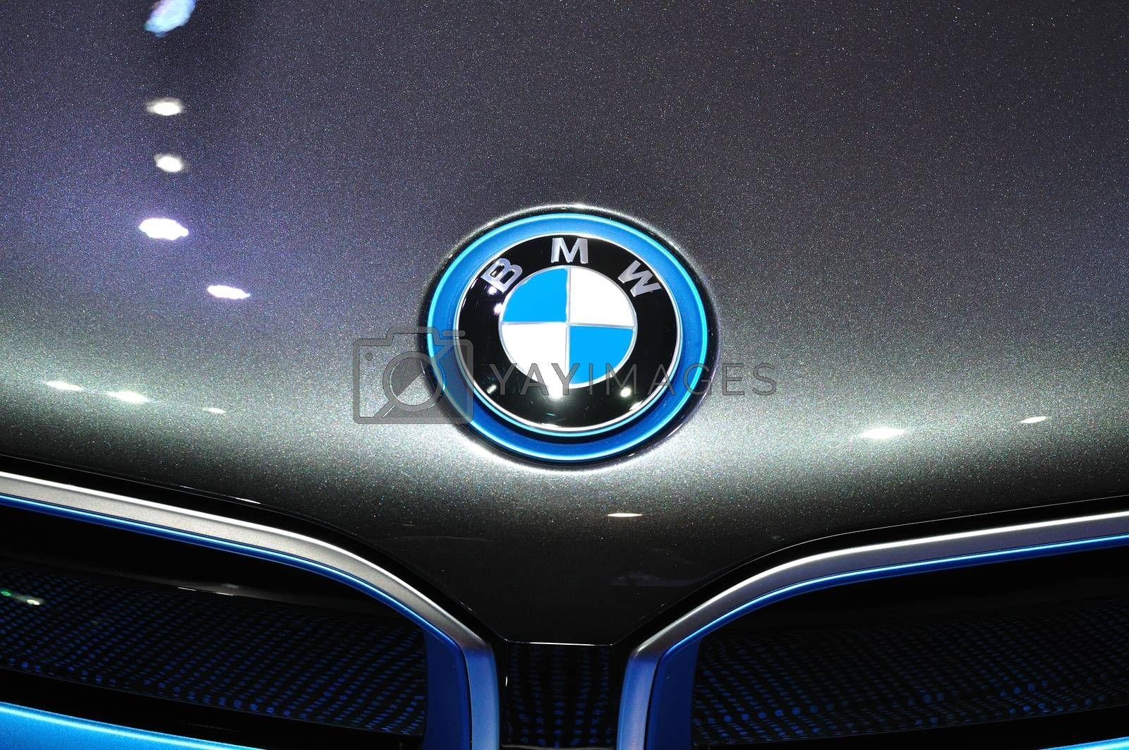 NONTHABURI - MARCH 25:Logo of  NEW BMW I8  on display at The 35t by thampapon