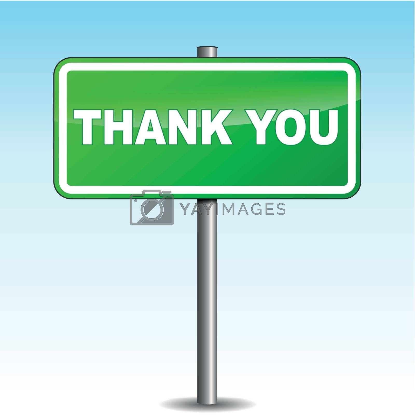 Vector thank you signpost by nickylarson974