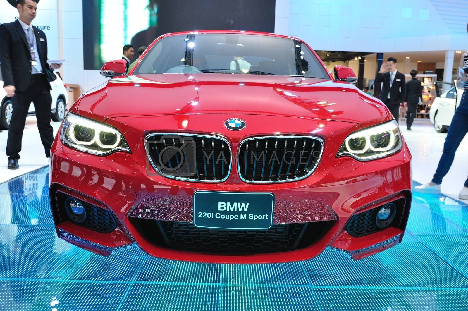 NONTHABURI - MARCH 25:NEW BM 220I coupe M sport on display at Th by thampapon