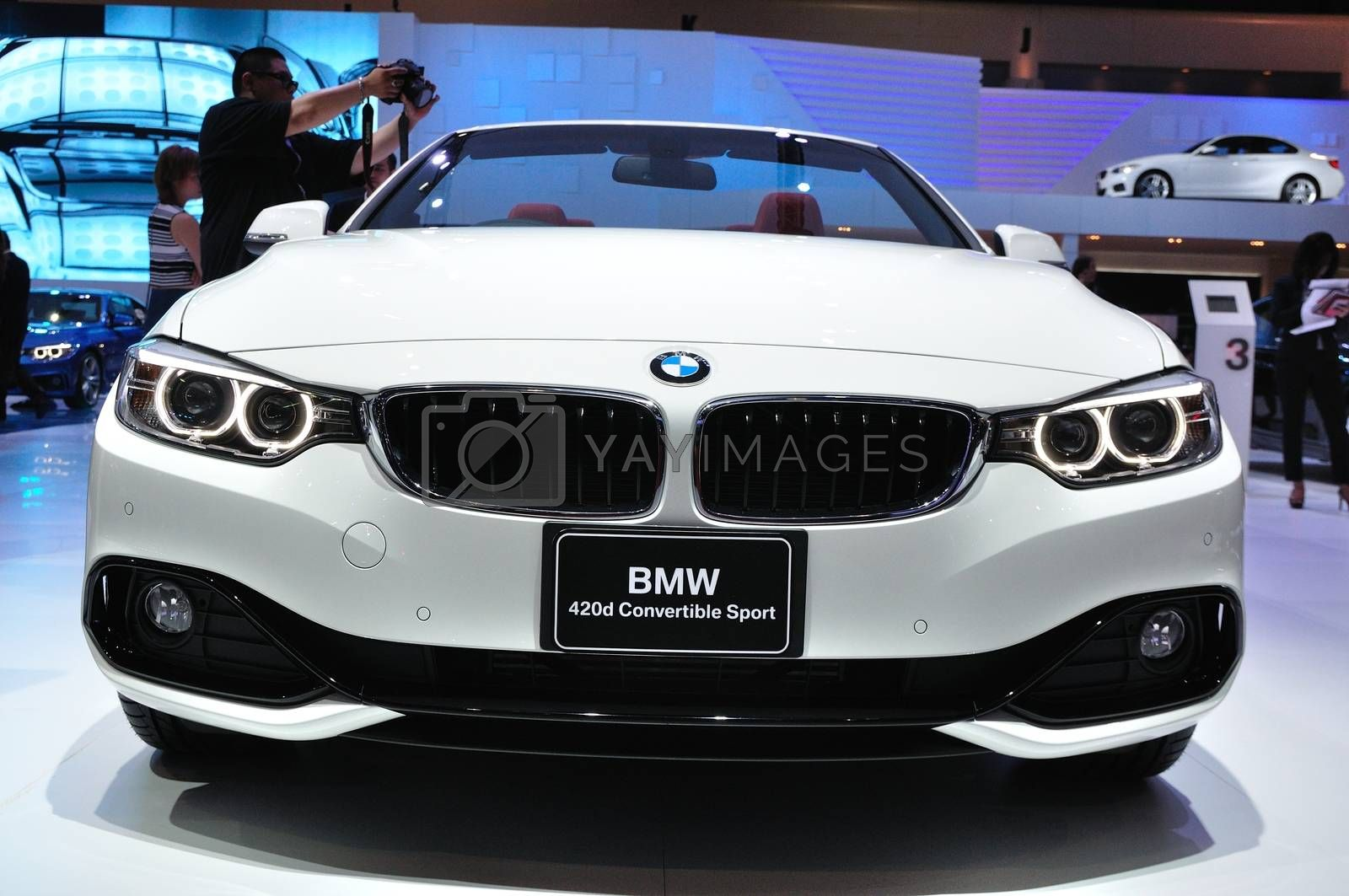 NONTHABURI - MARCH 25:NEW BM 420d convertible sport on display a by thampapon
