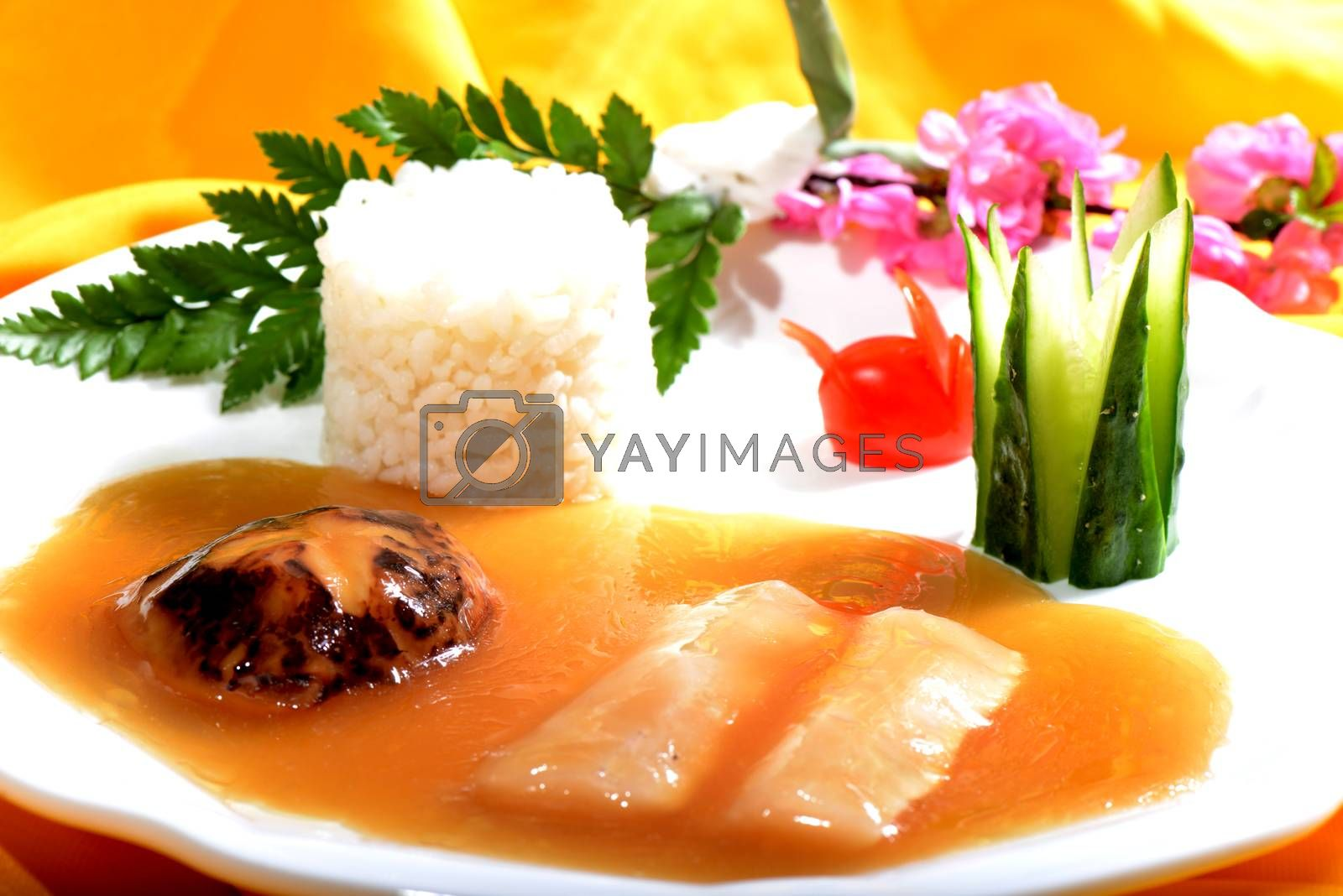 Chinese Food: Fish fillet with Rice by bbbar