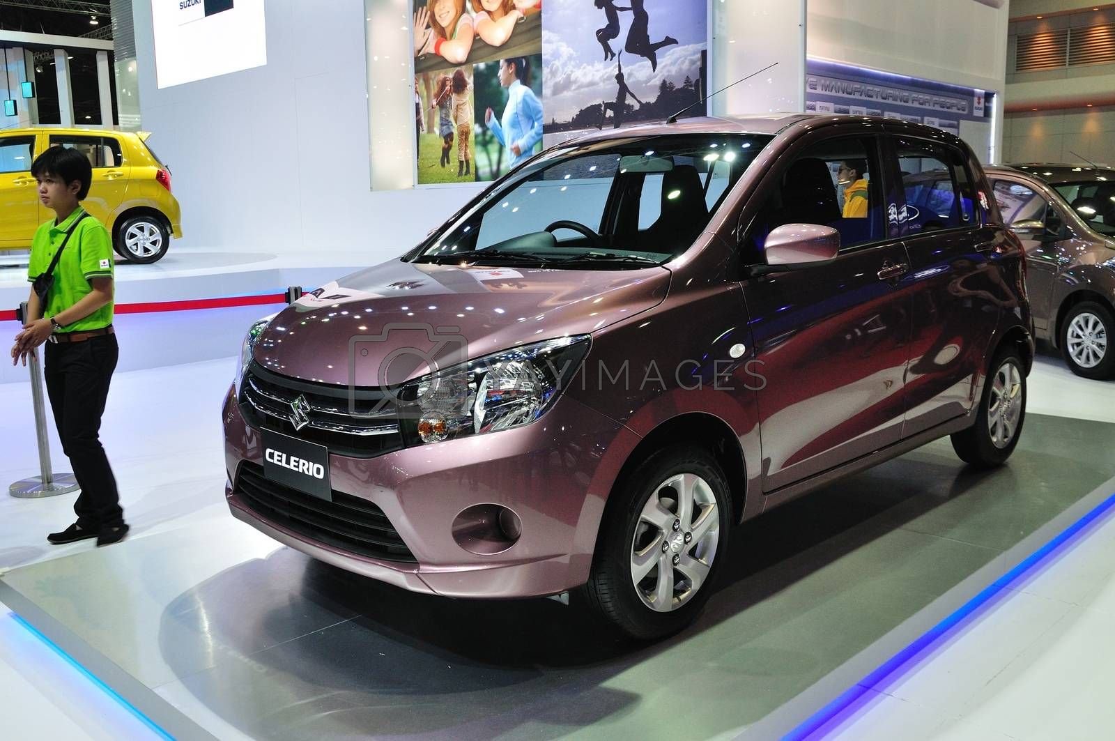NONTHABURI - March 25: New Suzuki Celerio on display at The 35th by thampapon