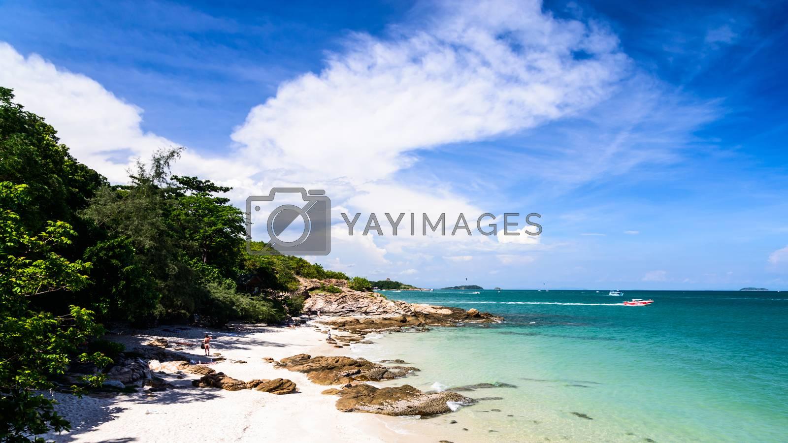 Idyllic Scene Beach at Samed Island,Thailand by jakgree