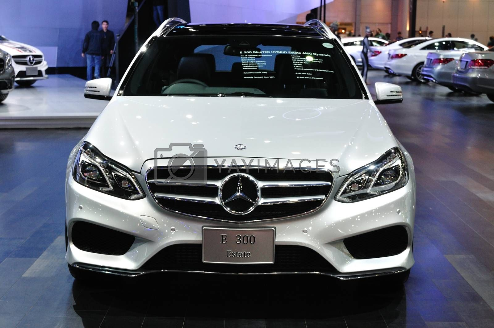 NONTHABURI - March 25: New Mercedes BENZ E 300 estate on display by thampapon