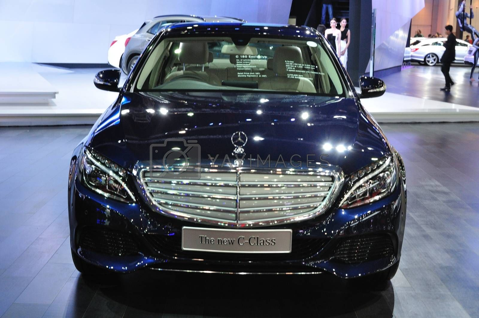 NONTHABURI - March 25: New Mercedes BENZ c-class on display at T by thampapon