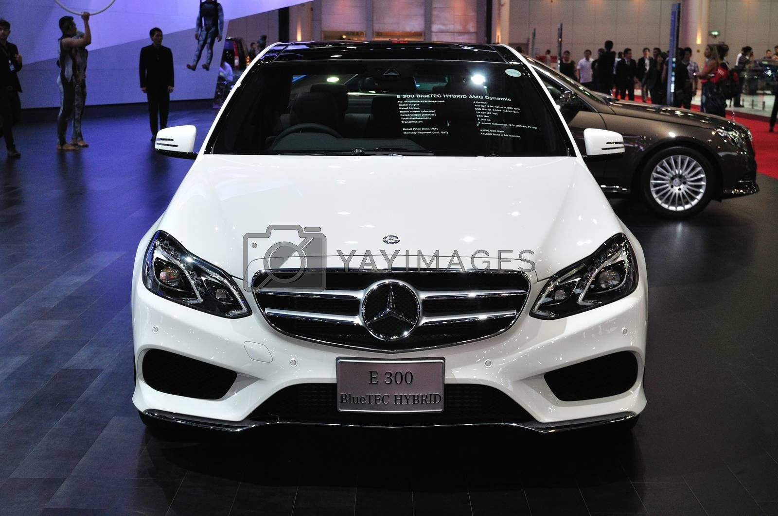 NONTHABURI - March 25: New Mercedes BENZ E 300 Bluetec Hybrid on by thampapon