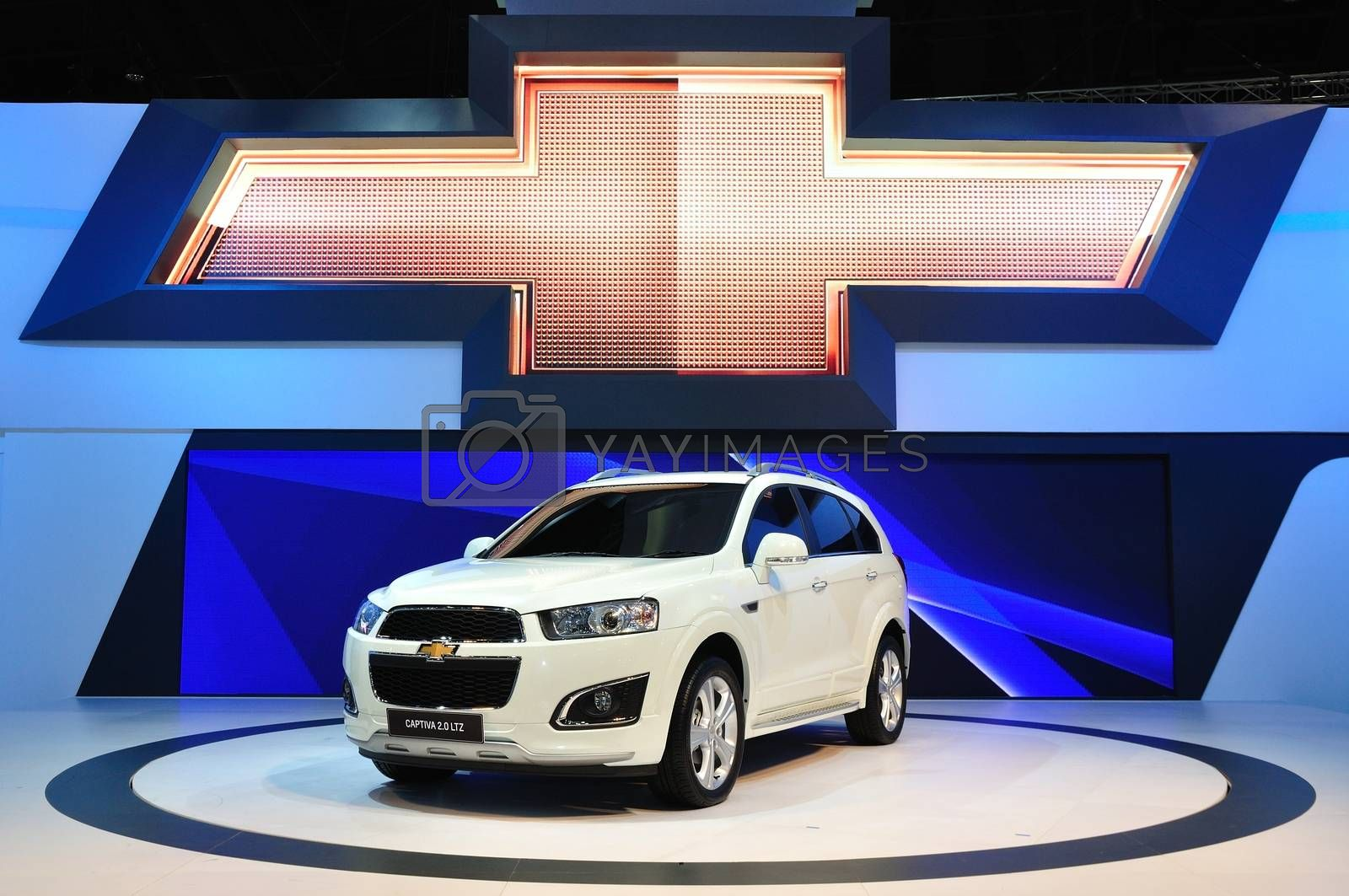 NONTHABURI - March 25: New Chevrolet Captive 2.0 Litre on displa by thampapon