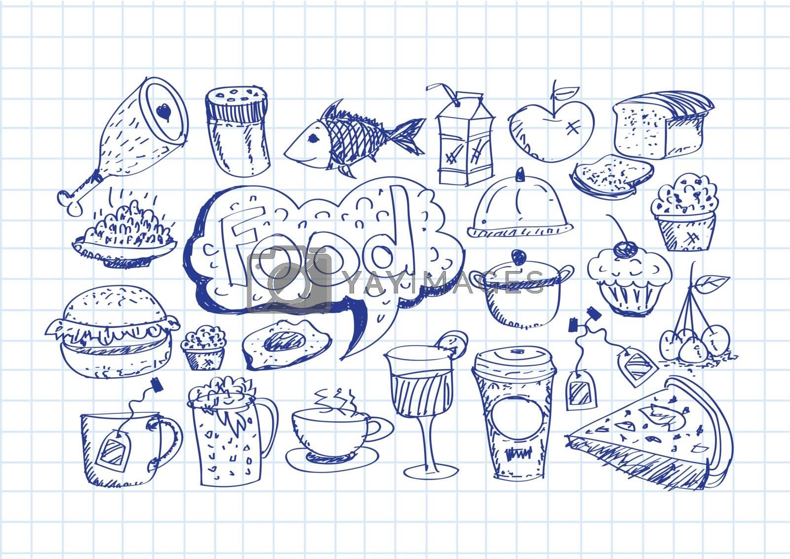 Food Icons by kiddaikiddee