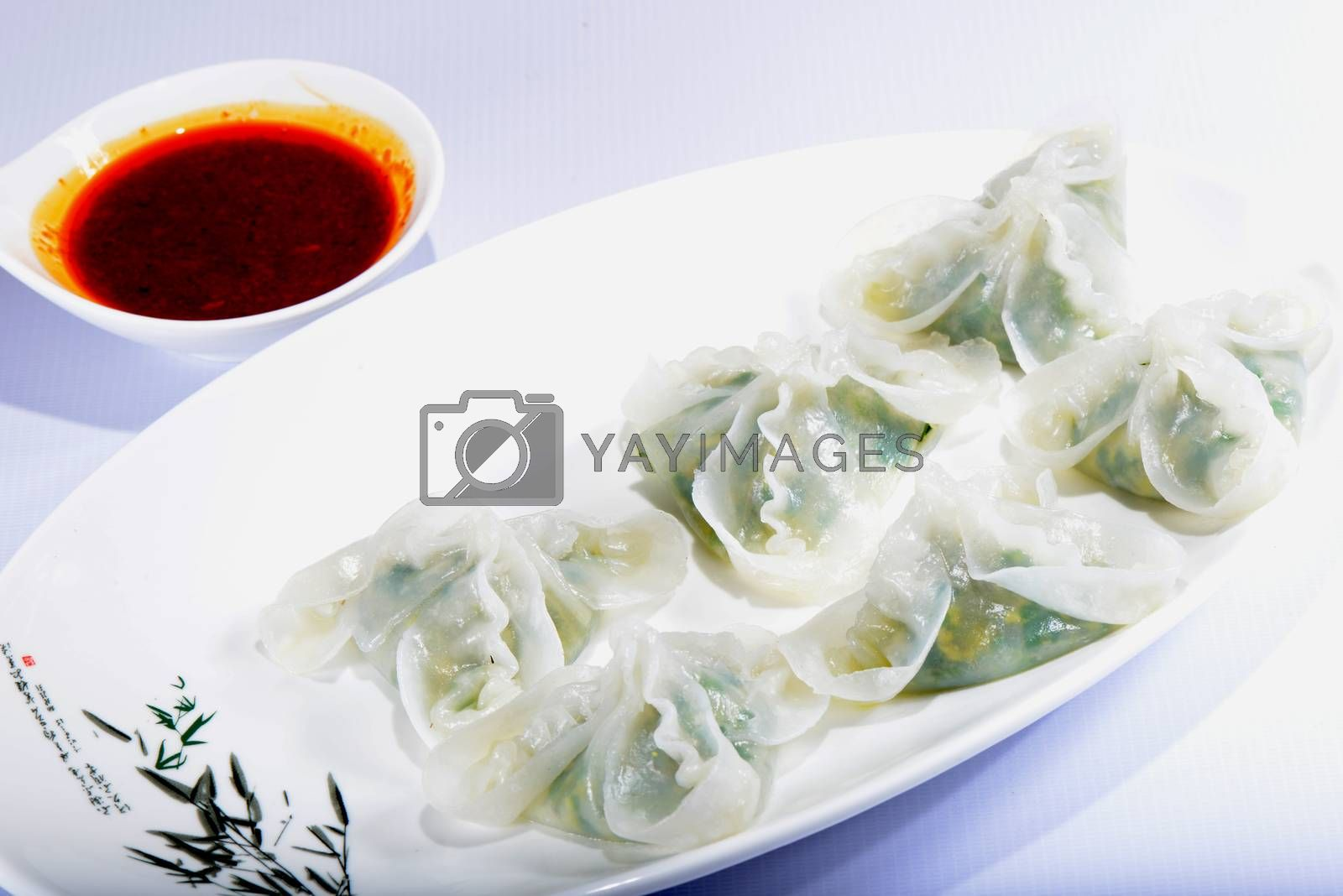 Chinese Food: Colorful steamed dumplings by bbbar