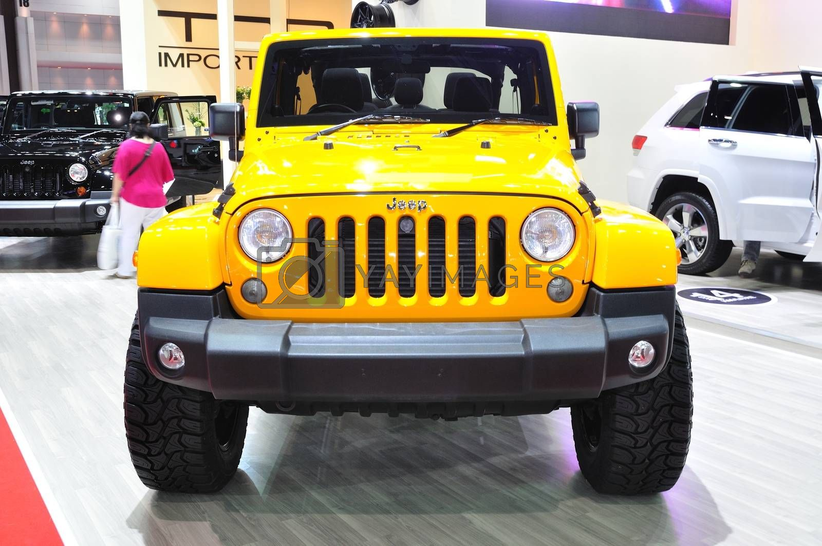 NONTHABURI - March 25: New Jeep Wrangler Sahara on display at Th by thampapon