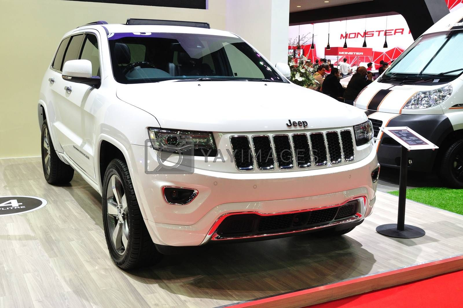 NONTHABURI - March 25: New Jeep Grand Cherokee on display at The by thampapon