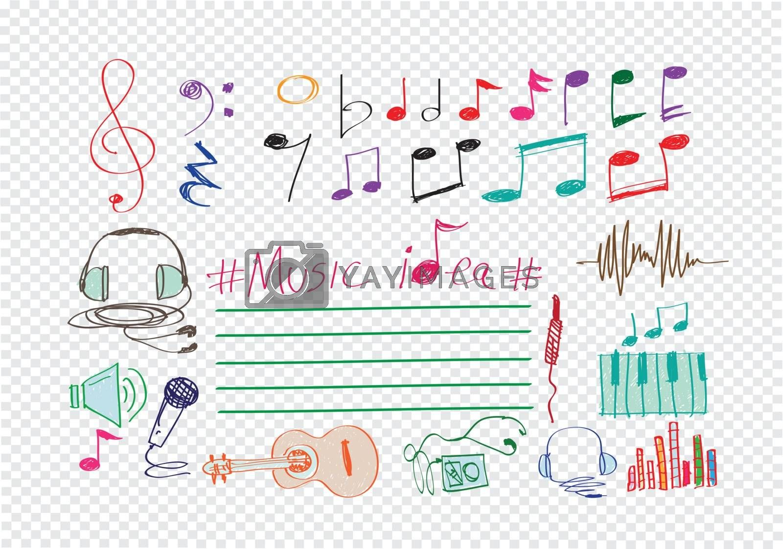 Music Notes and Music icons by kiddaikiddee
