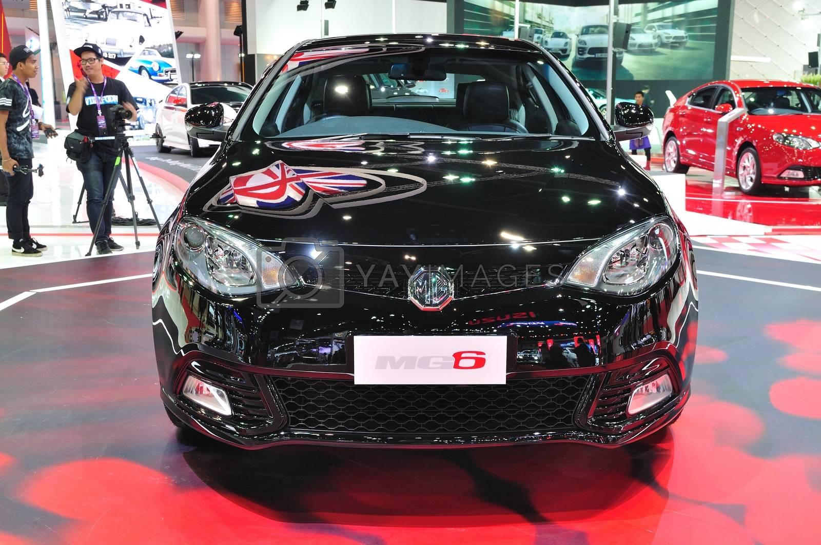 NONTHABURI - March 25: New MG 6 on display at The 35th Bangkok I by thampapon