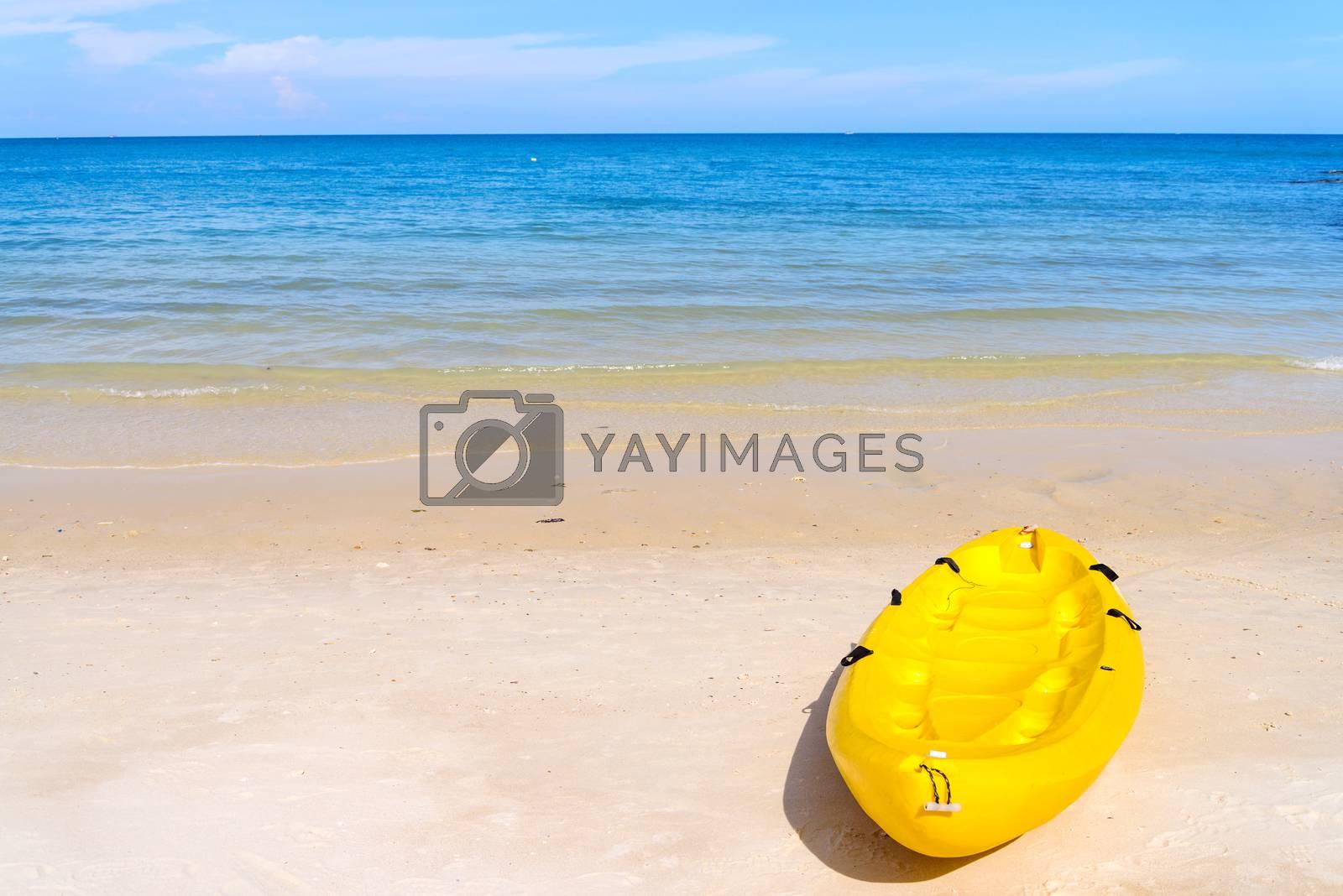 Royalty free image of Kayaks on the tropical beach, Mu Koh Samet - Khao Laem Ya Nation by jakgree