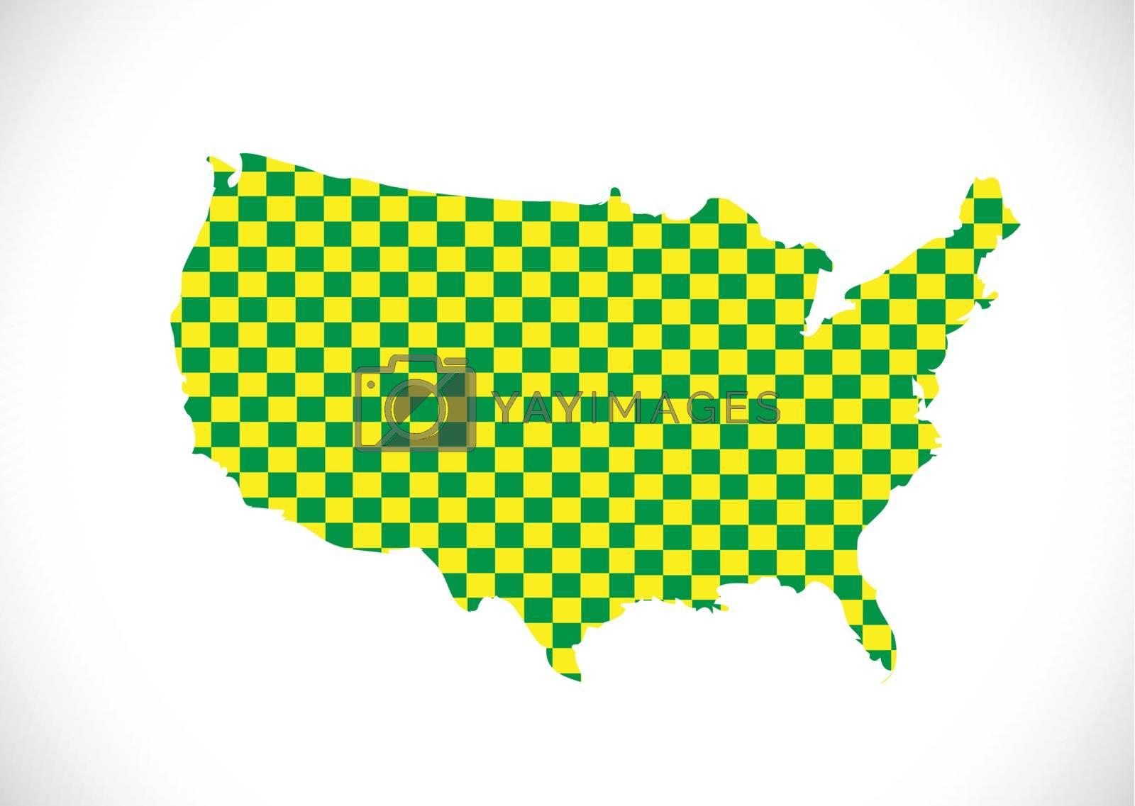 Map of USA by kiddaikiddee