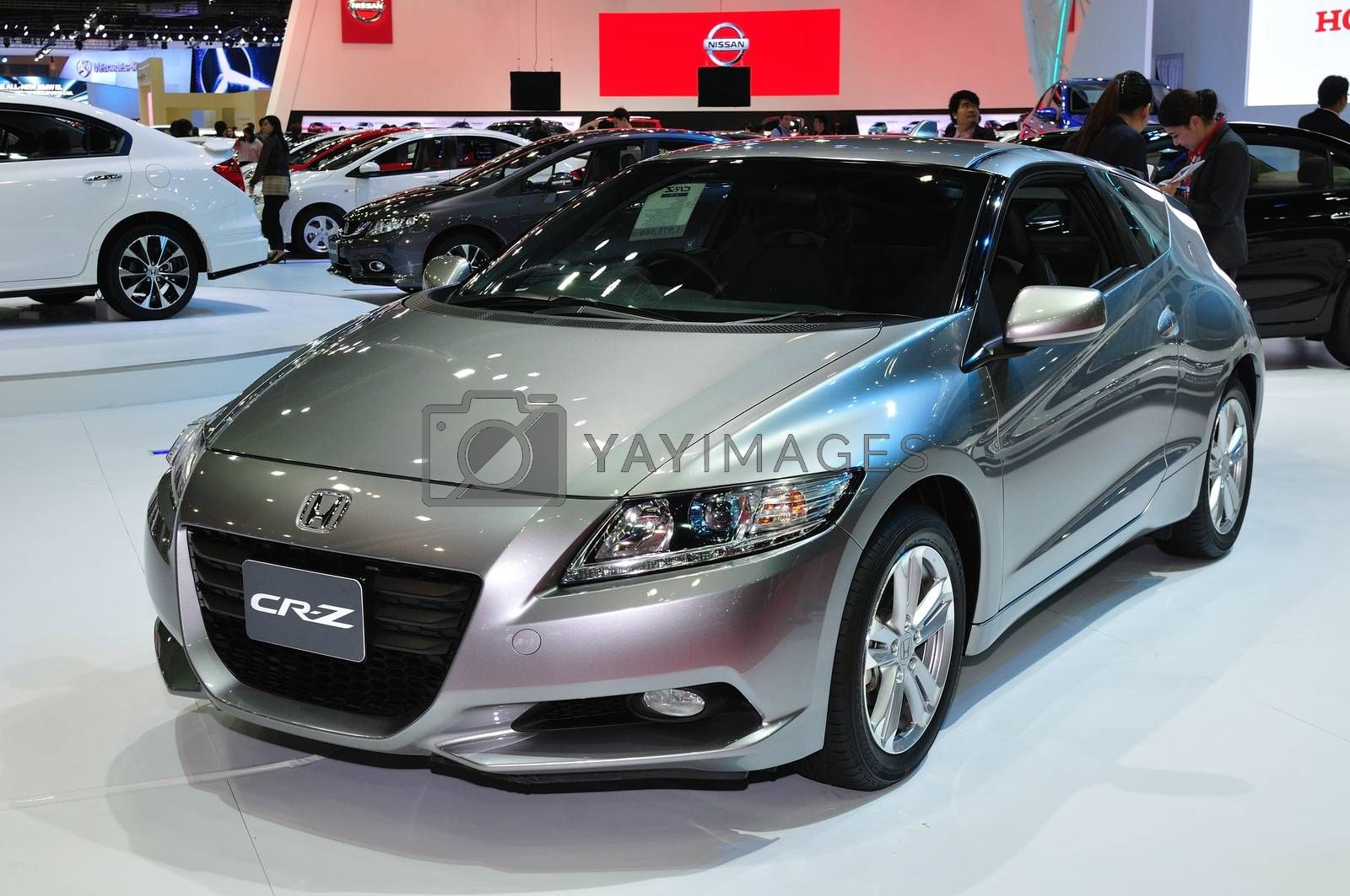 NONTHABURI - March 25: New Honda CR-Z on display at The 35th Ban by thampapon