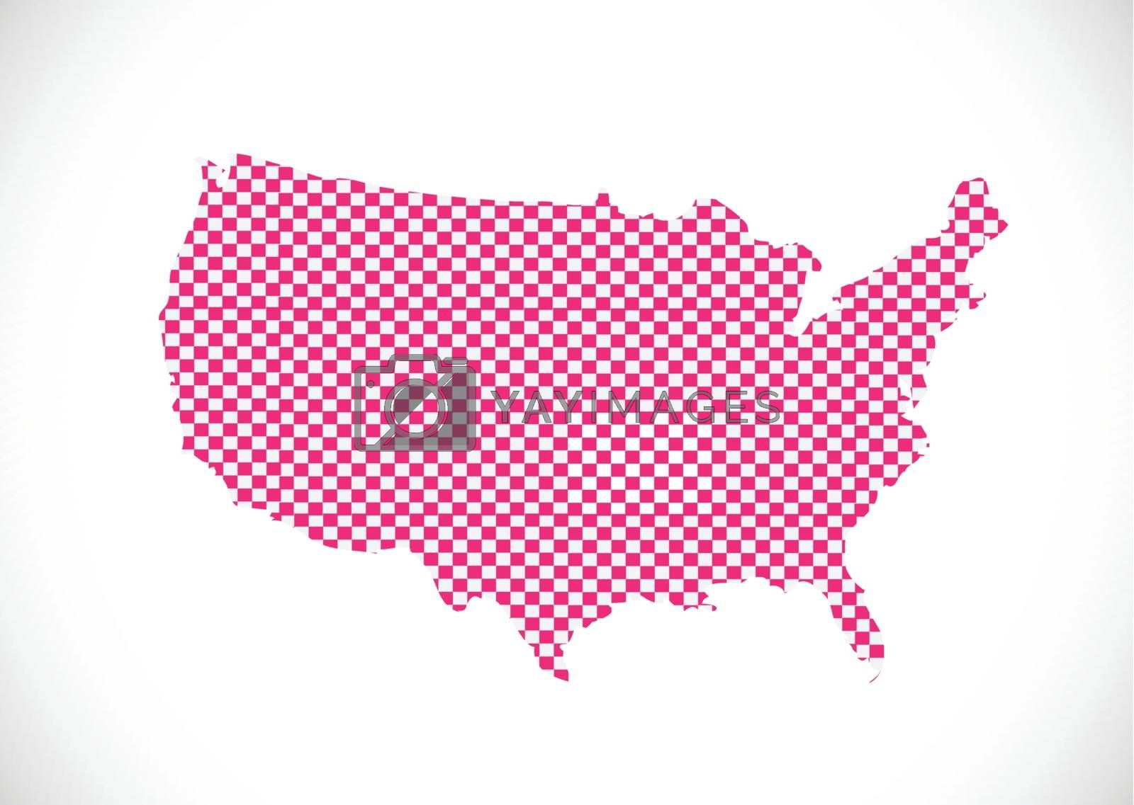 Map of USA by kiddaikiddee