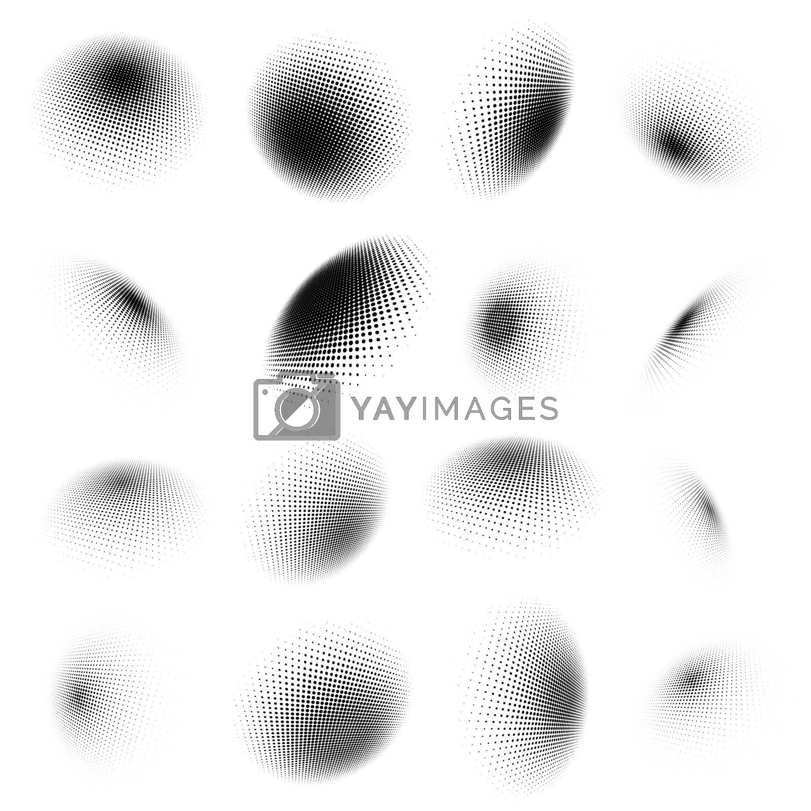 Abstract halftone circle design. And also includes EPS 10 vector