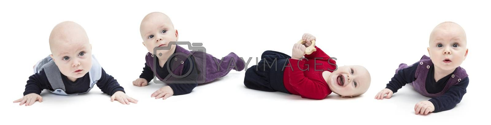Royalty free image of composing of toddler in different clothings by gewoldi