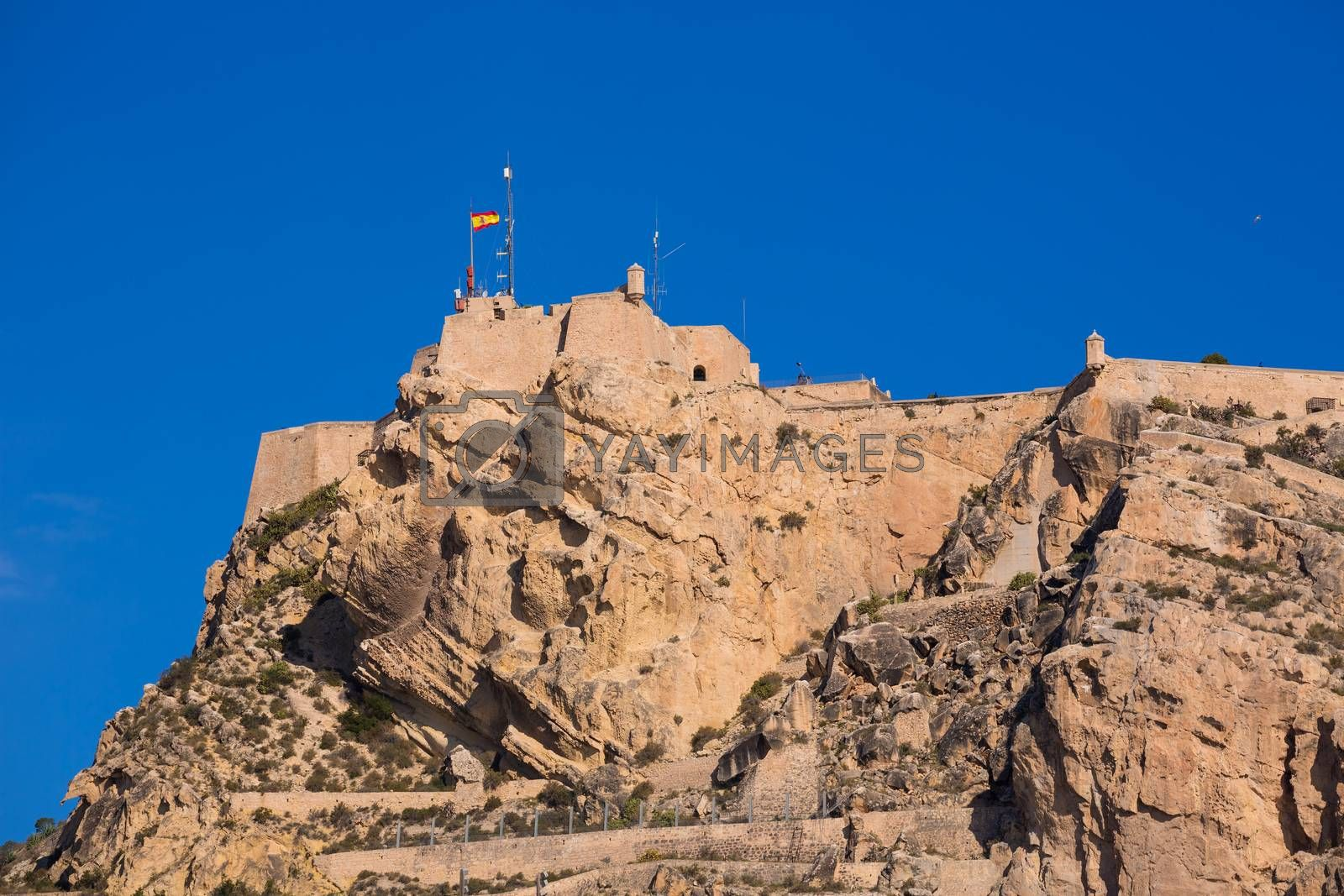 Alicante Santa Barbara castle in Mediterranean spain Valencian Community