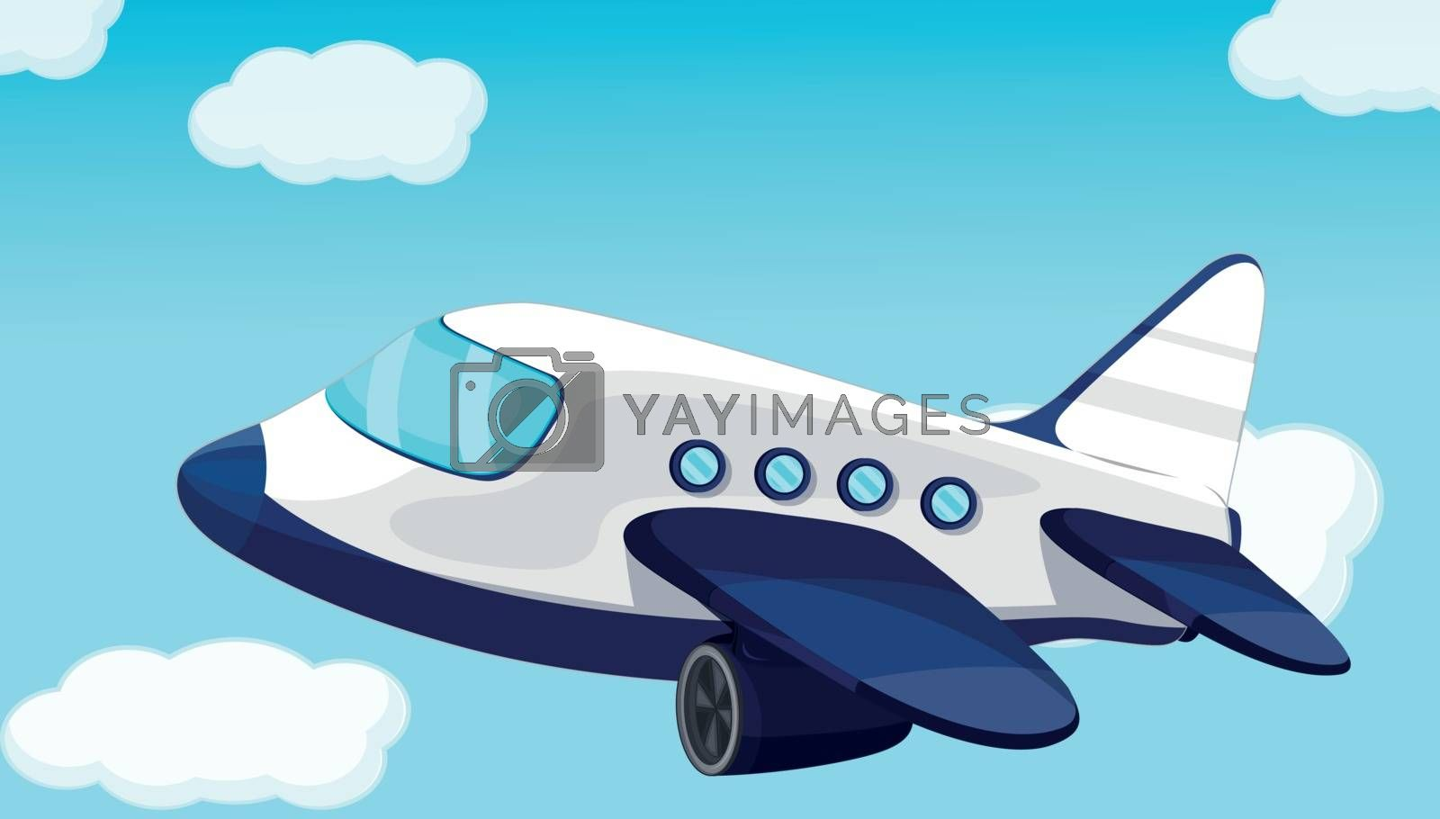 Royalty free image of plane by iimages