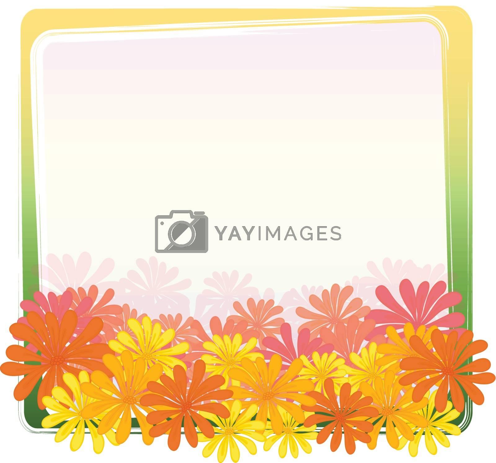 Illustration of a flower frame