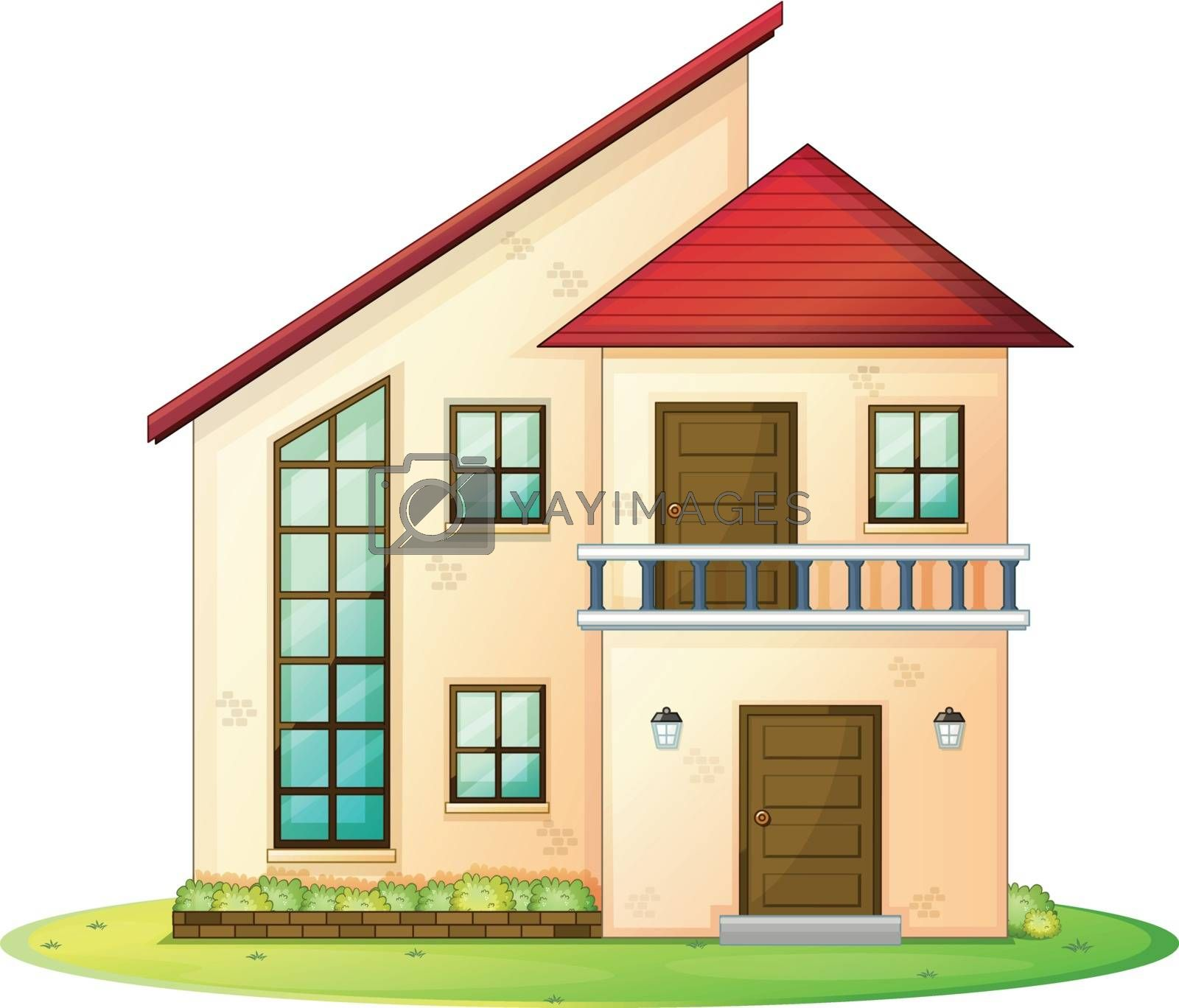 illustration of a house on a white background
