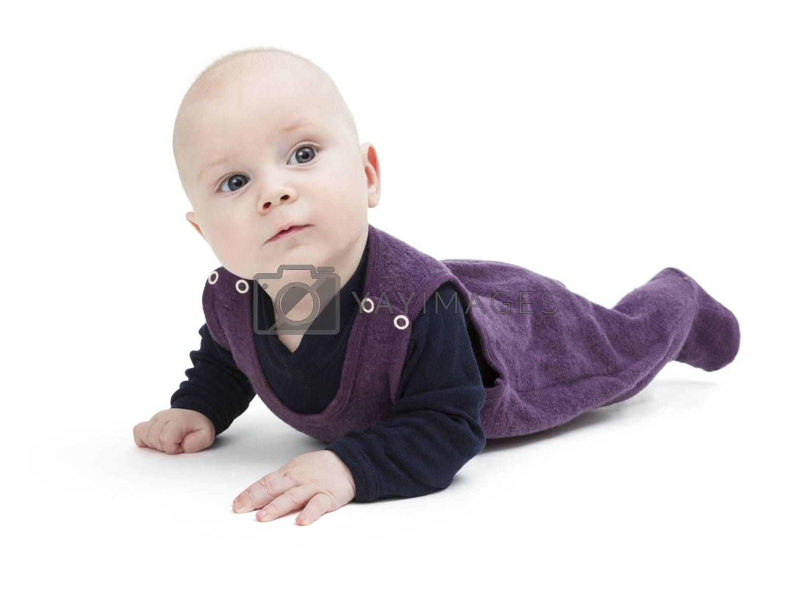 Royalty free image of toddler isolated on floor by gewoldi