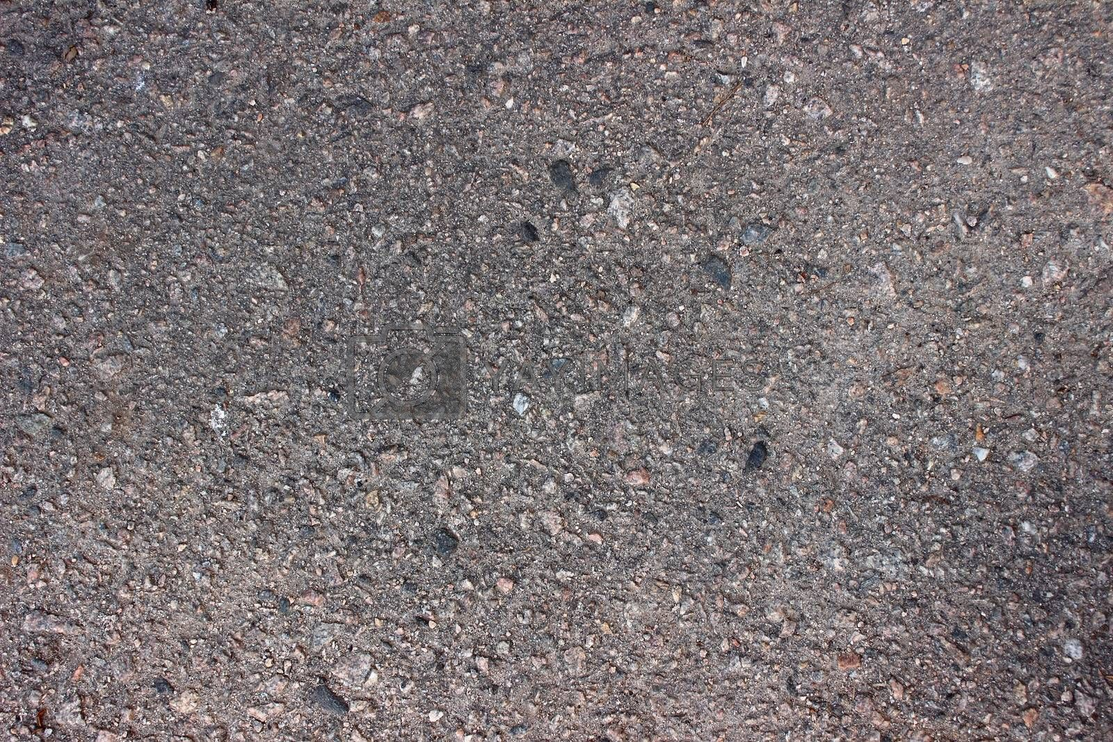 plain gray asphalt for hiking and biking