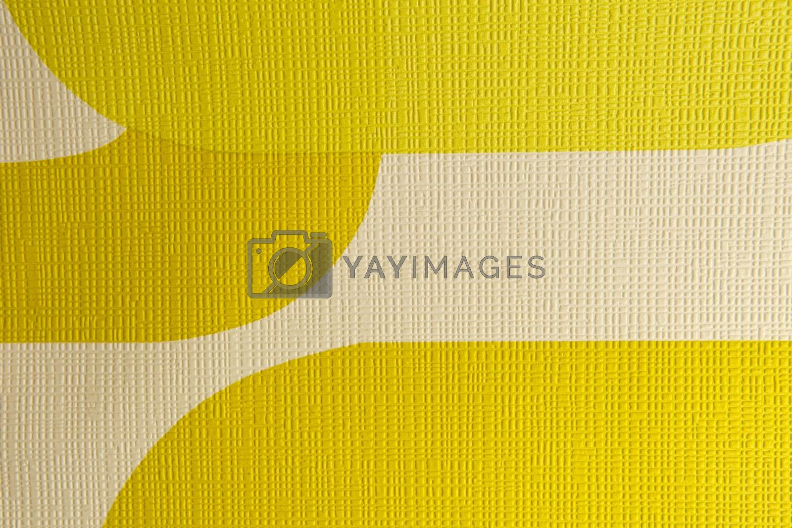 Retro funky yellow wallpaper design with texture.