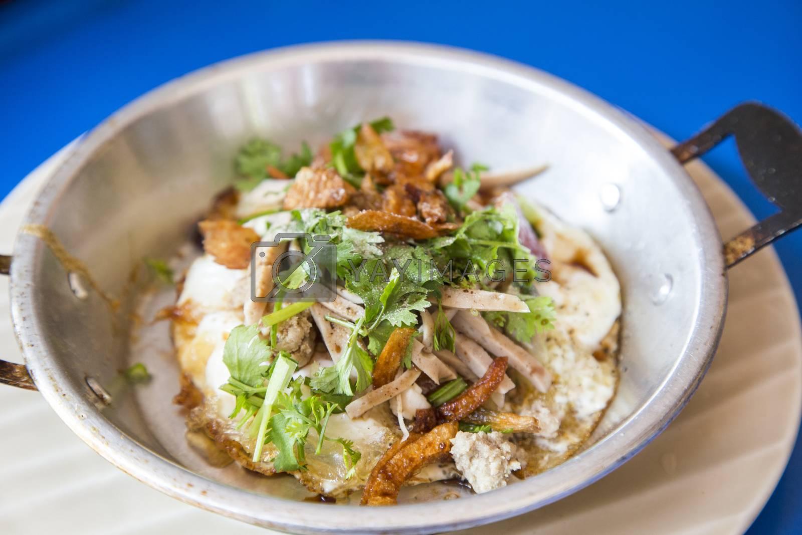 Pan egg breakfast asian food by 2nix