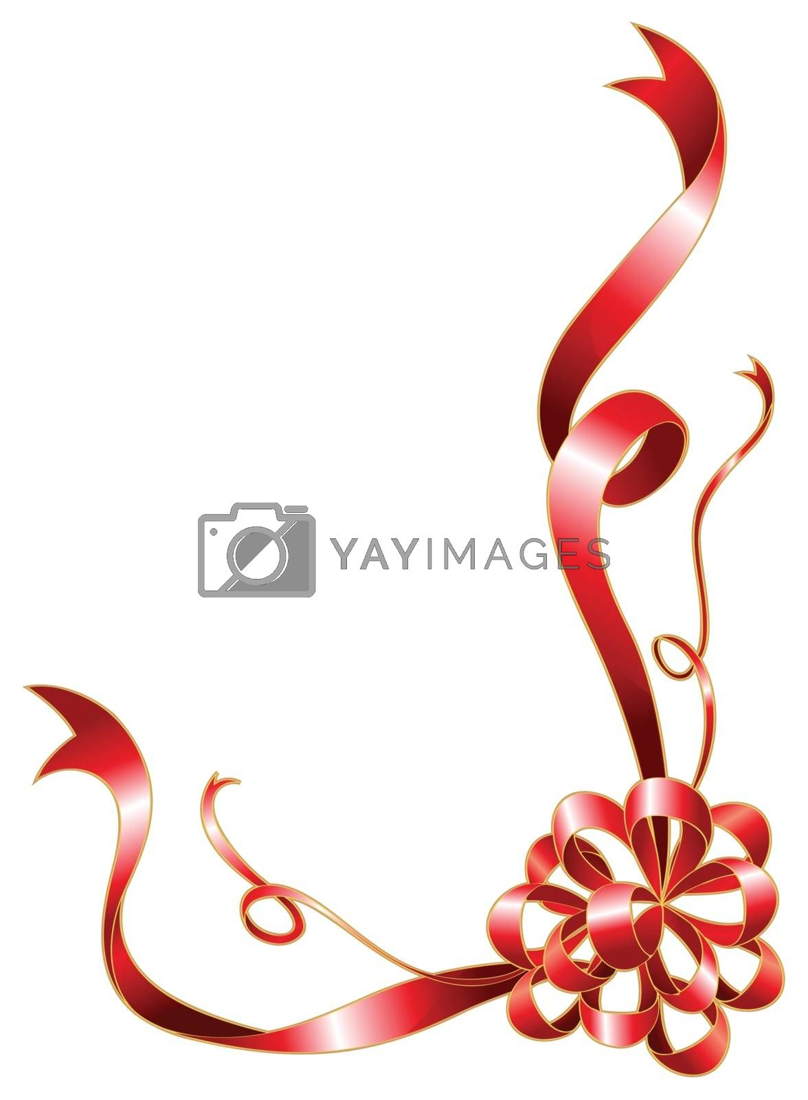Ribbon illustration on white background
