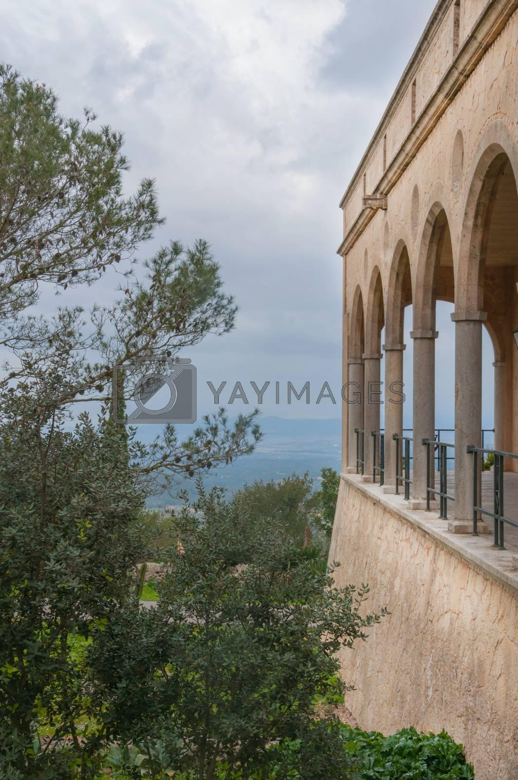 Monastery Santuari de Cura in Randa, Majorca. by Artesia Wells
