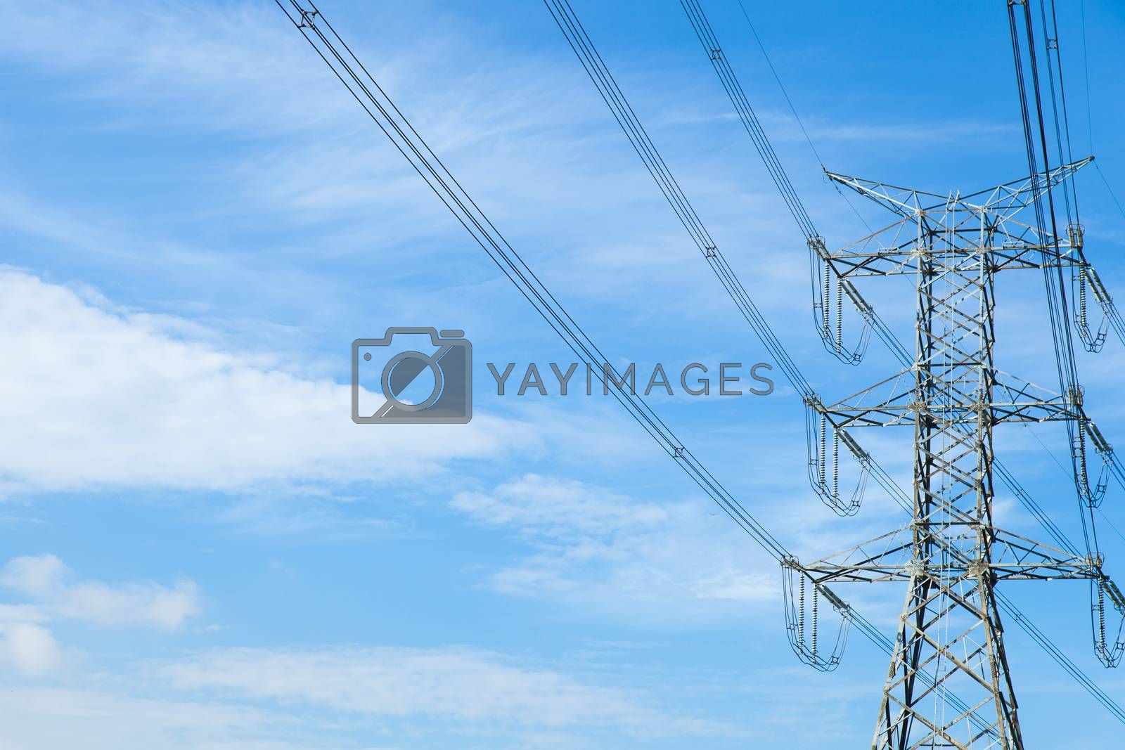 High voltage towers. by a454