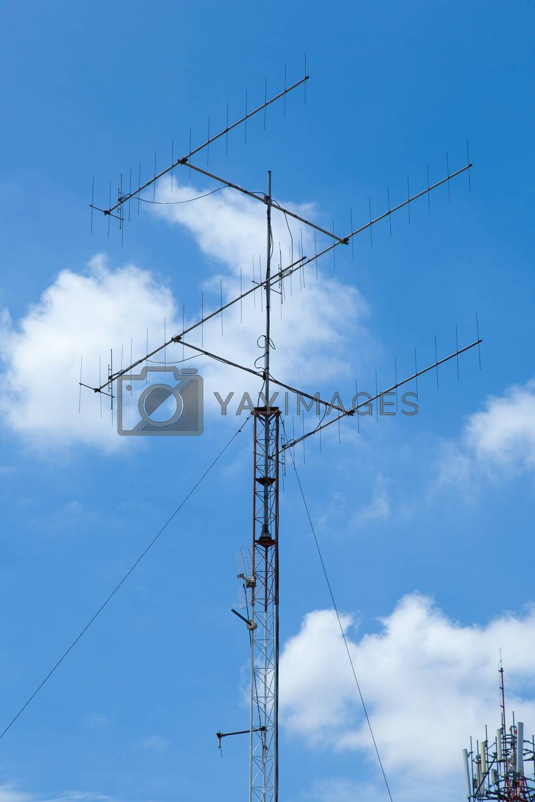 Air antenna. Antenna group's vision. Household. The latter is the clear skies.