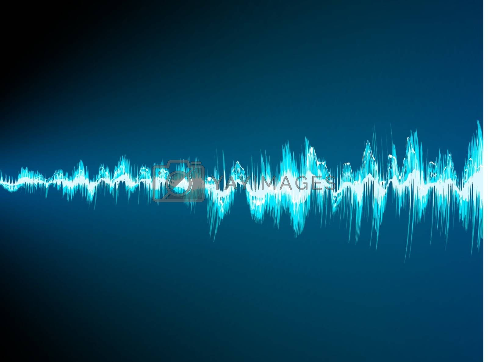 Sound wave abstract background. EPS 10 vector file included
