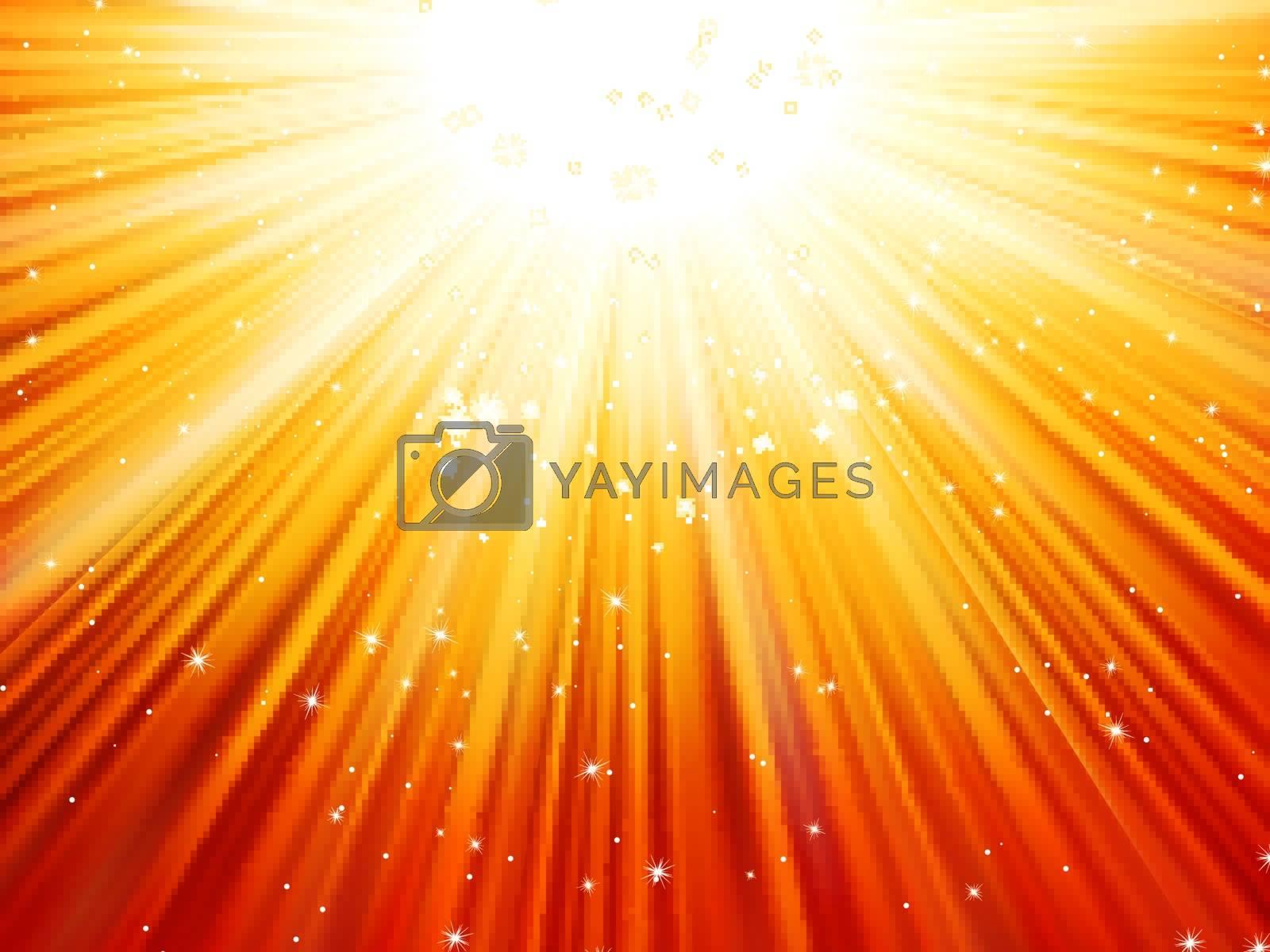 Sunburst rays of sunlight tenplate. EPS 10 vector file included