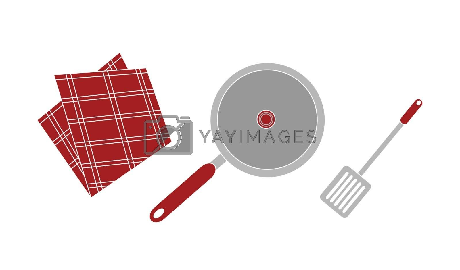 A vector illustration of cooking set