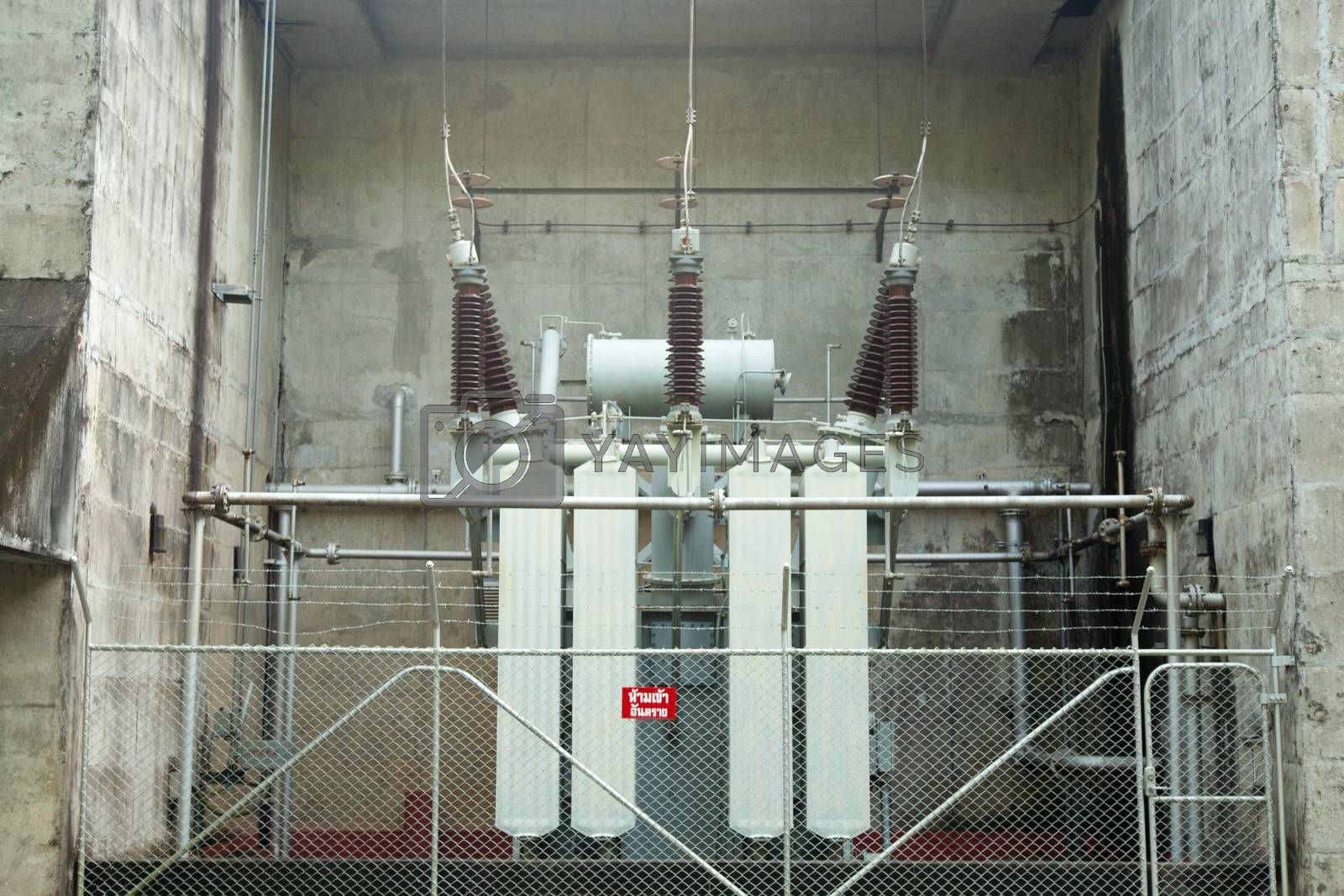 Transformer Commuter pressure to rise. Installed in the power plant.