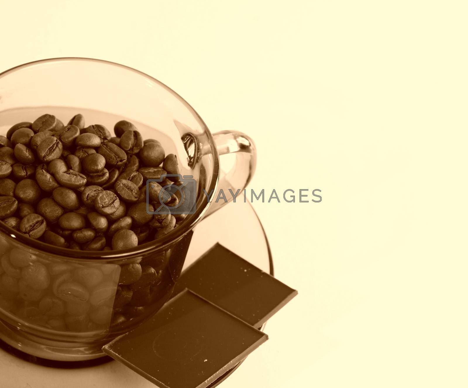 Cup with coffee by arosoft
