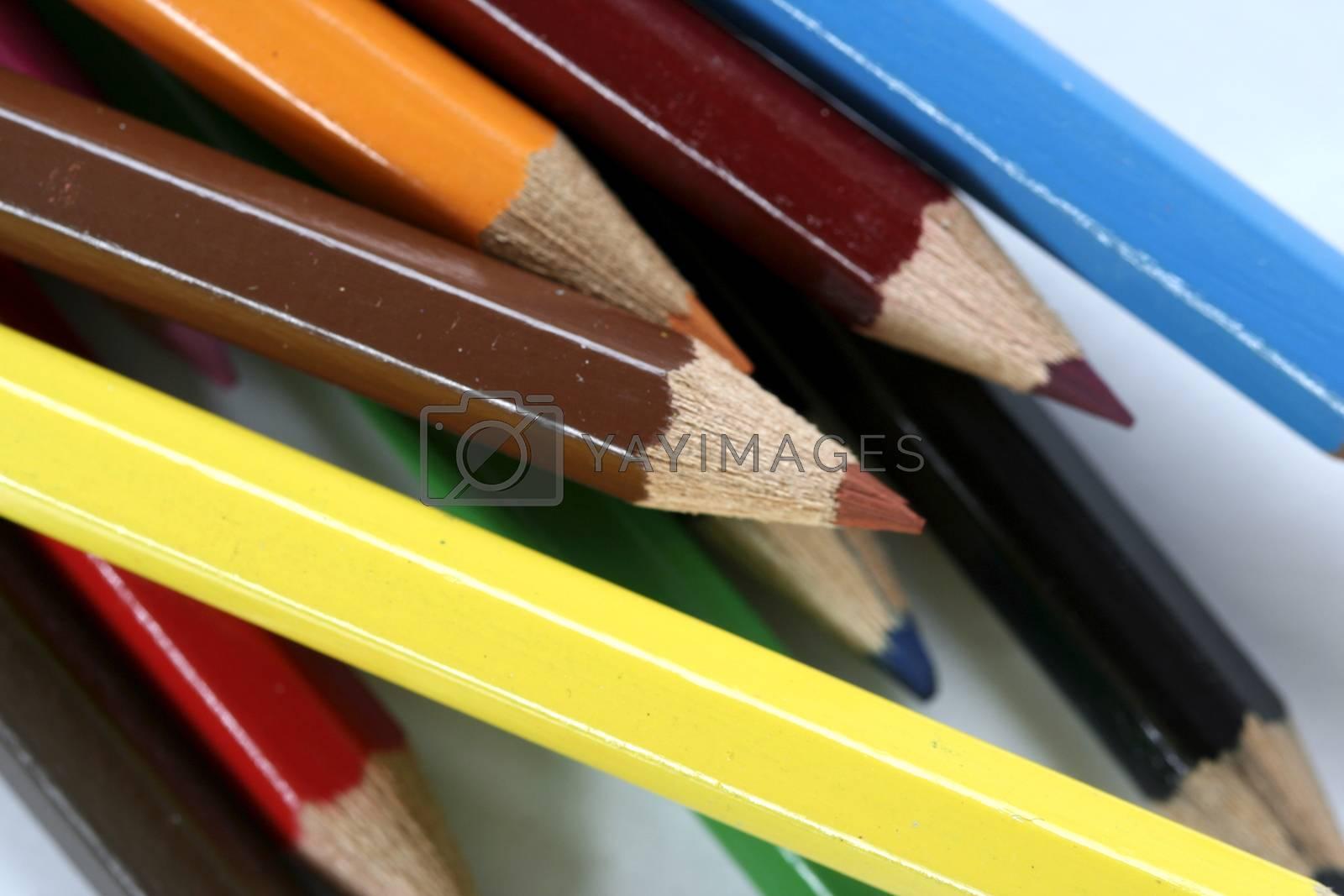Close-up pencil. by arosoft