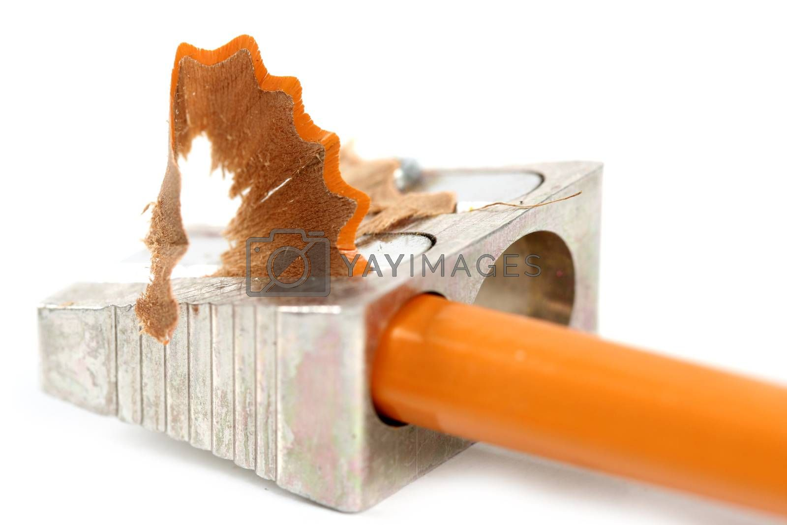 Pencil and sharpener by arosoft