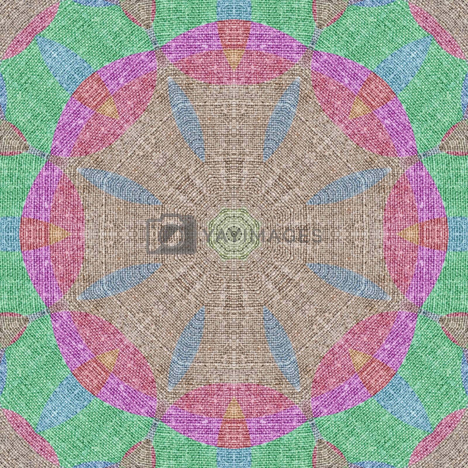 Royalty free image of Seamless pattern, linen canvas by alexcoolok
