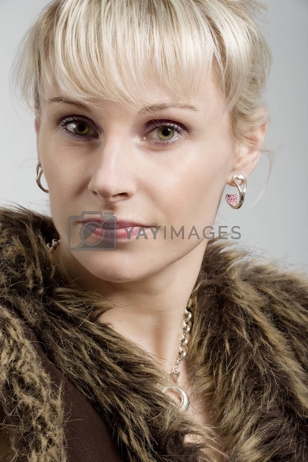 Royalty free image of studio portrait of beautiful woman by artush