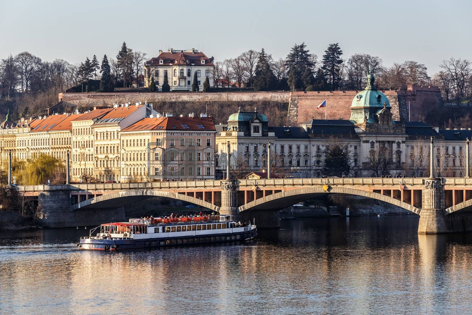 Royalty free image of View to the Prague river Vltava by artush