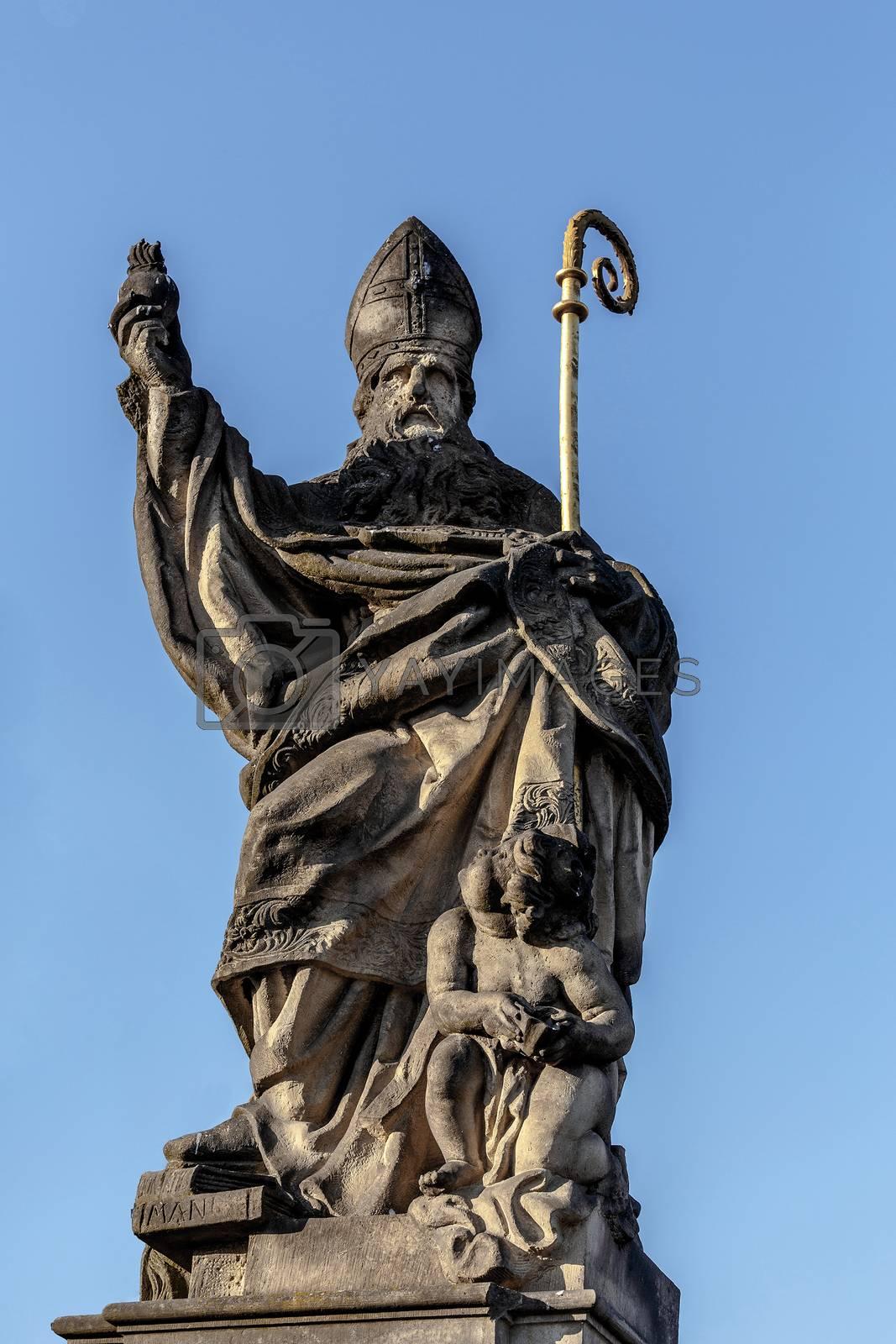Royalty free image of Staue on the Charles Bridge in Prague, Czech Republic. by artush