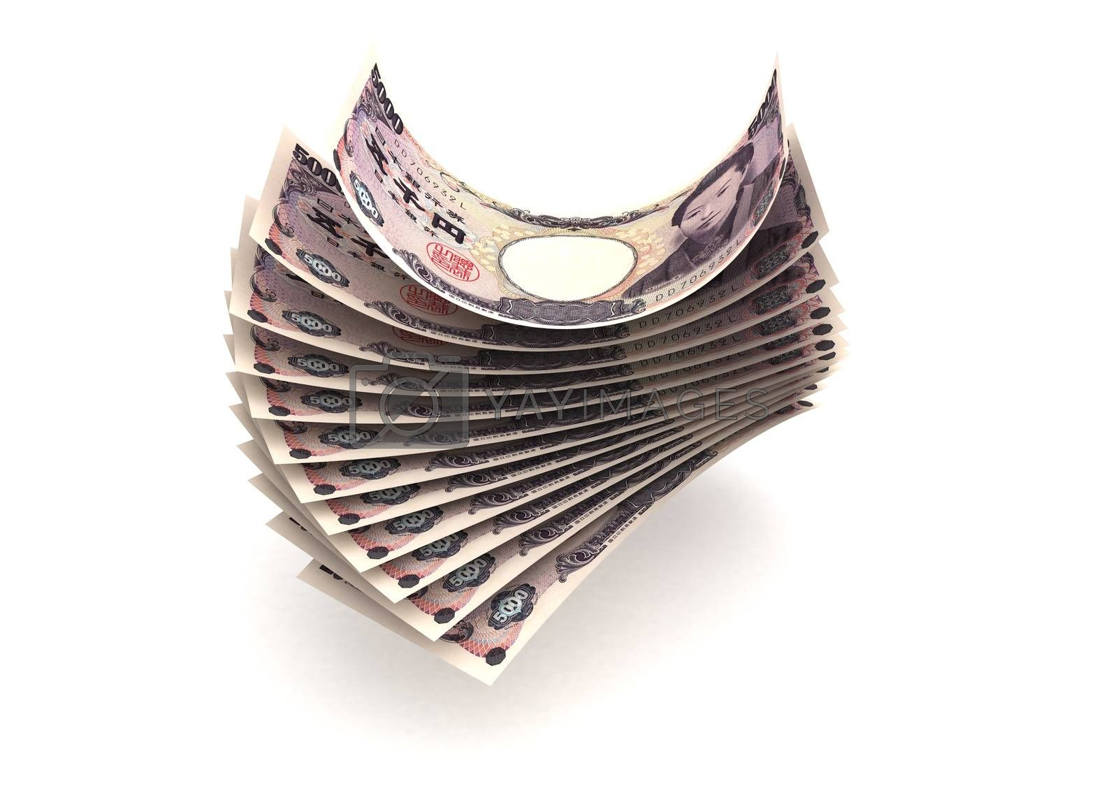 Royalty free image of Japanese Yen by selensergen