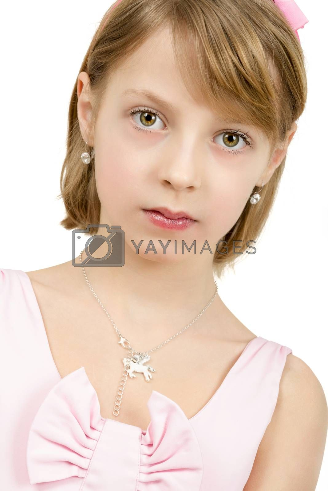 Royalty free image of Studio portrait of young beautiful girl by artush