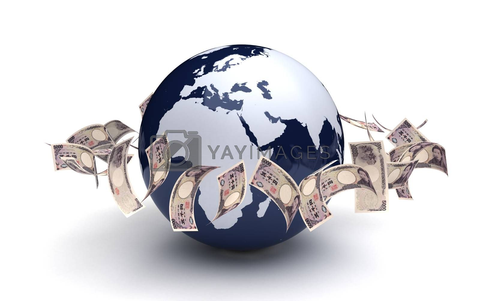 Royalty free image of Global Business Japanese Yen by selensergen